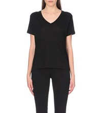 J Brand Fashion Janis V Neck T Shirt Black