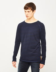 Nudie Jeans Co Otto Long Sleeve Stripe T Shirt Navy