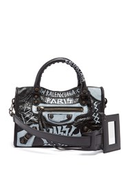 Balenciaga Classic City Mini Graffiti Black White