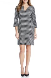 Karen Kane Women's Diamond Print Shift Dress