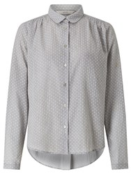 Numph Nadja Dot Shirt Light Grey Melange