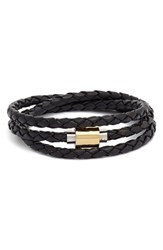 Women's Liza Schwartz 'Sobe Original' Braided Leather Wrap Bracelet Black