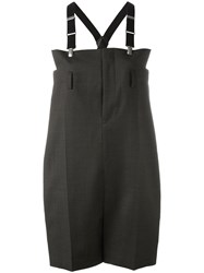 Comme Des Garcons Junya Watanabe Dungaree Style Playsuit Women Cupro Wool S Grey