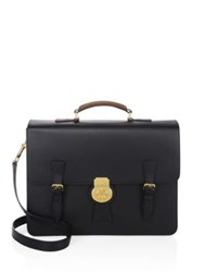 Burberry Leather Briefcase Black