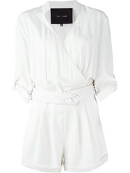 Jay Ahr Rope Detail Playsuit White