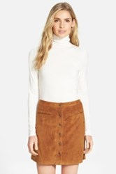 Halogen Long Sleeve Turtleneck Petite White