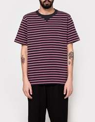 Sacai Dixie Border T Shirt Gray X Pink