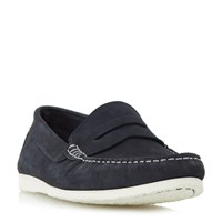 Dune Breeze Unlined Penny Loafers Navy