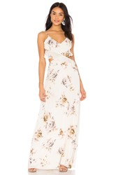 Clayton X Revolve Meadow Dress White