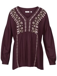 Fat Face Stephanie Embroidered Blouse Ganache