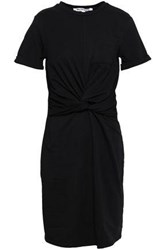 W118 By Walter Baker Trish Twisted Cotton Blend Jersey Mini Dress Black
