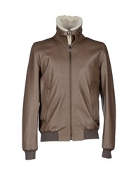 Faconnable Coats And Jackets Jackets Men Khaki