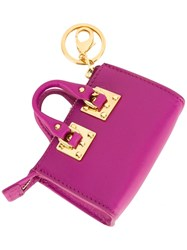 Sophie Hulme 'Holmes' Coin Purse Pink And Purple