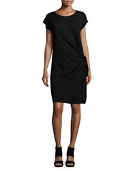Velvet By Graham And Spencer Tie Accented Knit Dress Black
