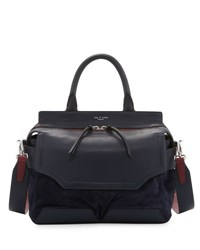 Rag And Bone Pilot Suede Leather Satchel Bag Black