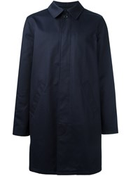 A.P.C. 'Mac Ville' Overcoat Blue