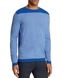 Hugo Boss Green Roff Monaco Stripe Sweater Blue