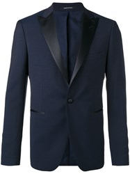Tagliatore Pointed Lapel Two Piece Suit Blue