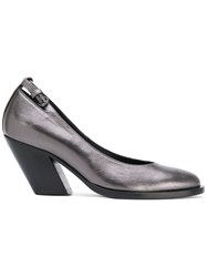 A.F.Vandevorst Diagonal Heel Buckled Pumps Metallic