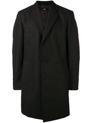 Hugo Boss Tailored Single Breasted Coat Brown
