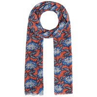 Seasalt Pretty Printed Scarf Winter Bloom Carnelian