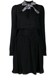 Moschino Pussy Bow Dress Black