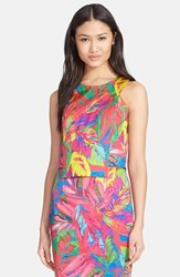 Women's Milly Feather Print Shell