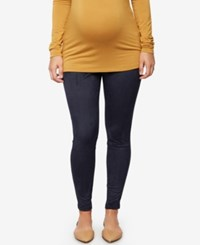 A Pea In The Pod Maternity Faux Suede Leggings Classic Navy