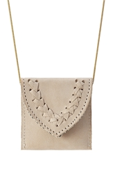 Hacienda Montaecristo Marieta Gold Plated Necklace With Leather Pouch
