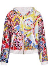 Emilio Pucci Printed Cotton Blend Terry Hooded Sweatshirt Multi
