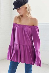 Kimchi And Blue Blake Off The Shoulder Tunic Top Magenta