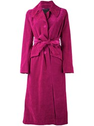 Marc Jacobs Velvet Coat Pink Purple