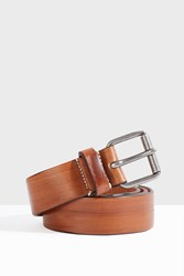 Paul And Joe Elouka Distressed Leather Belt Brown