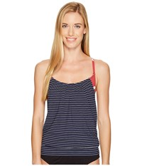 Carve Designs Sophia Tankini Anchor Aruba Stripe Red Oasis Swimwear Blue