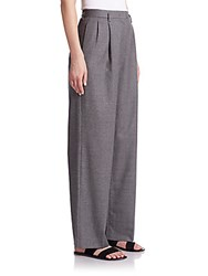 The Row Caray Stretch Wool Trousers Grey