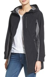 Kristen Blake Women's Hooded Two Tone Zip Front Jacket