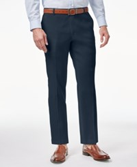 Inc International Concepts Men's Linen Stretch Slim Fit Pants Created For Macy's Navy