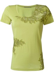 Ermanno Scervino Lace Detailing T Shirt Green