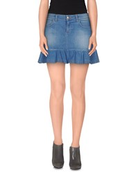 Scee By Twin Set Denim Denim Skirts Women Blue