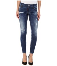 Dsquared Perfetto Wash Medium Waist Skinny Jeans In Blue Blue Women's Jeans