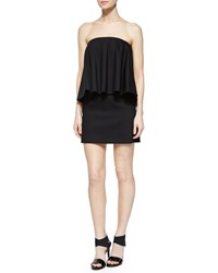 Alexis Tabitha Strapless Draped Overlay Dress Black Women's