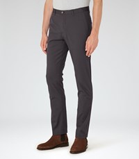 Reiss Friston Mens Twill Chinos In Grey