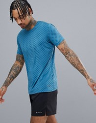 Craft Running Essential T Shirt In Blue With Pyramid Print 1906052 123657