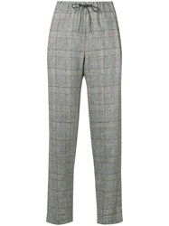 Fabiana Filippi Slim Checked Trousers Black