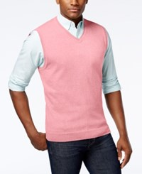 Club Room Men's Cotton Sweater Vest Only At Macy's Sorbet Pink