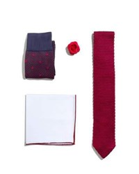 Hook Albert Shop The Look Suiting Accessories Set Red