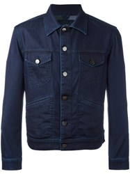 Jacob Cohen Flap Pockets Denim Jacket Blue