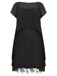 Mint Velvet Cobweb Lace Dress Black