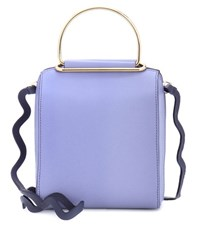Roksanda Ilincic Besa Leather Shoulder Bag Purple