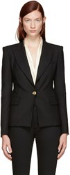Balmain Pierre Black Gold Buttons Blazer